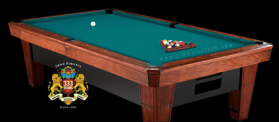 7' Simonis 860 Pool Table Cloth - Blue Green