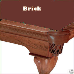 10' Proline Classic 303 Pool Table Felt - Brick