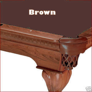 Pro 8' Oversized Proline Classic 303T Teflon Pool Table Felt - Brown