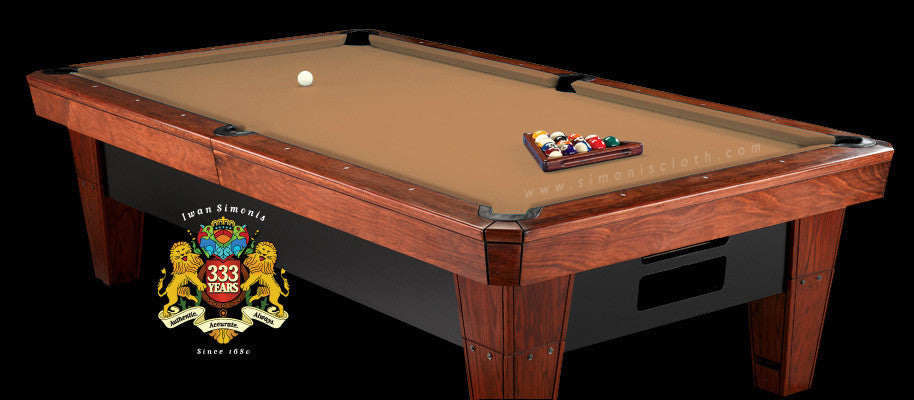 Pro 8' Simonis 860 Pool Table Cloth - Camel