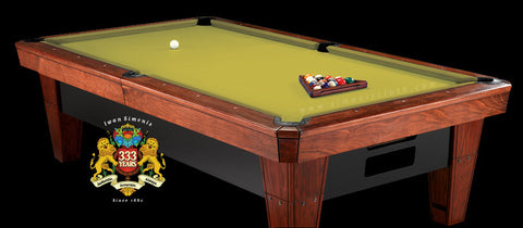 7' Simonis 860 Pool Table Cloth - Chartreuse