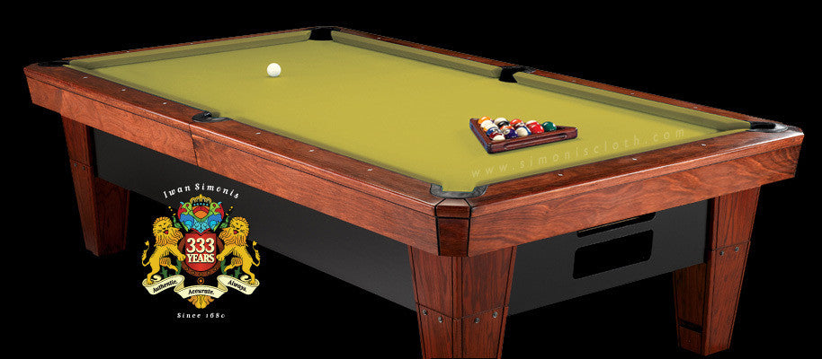 8' Simonis 860 Pool Table Cloth - Chartreuse