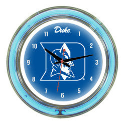 "Duke Blue Devils 14"" Neon Clock"