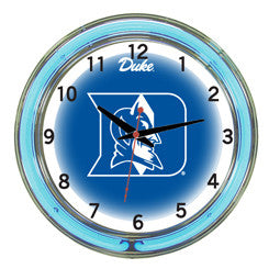 "Duke Blue Devils 18"" Neon Clock"