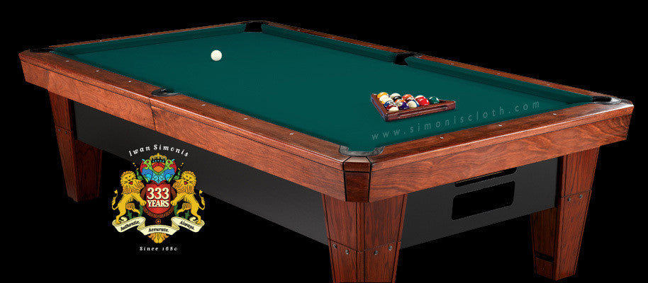 8' Simonis 860 Pool Table Cloth - Dark Green