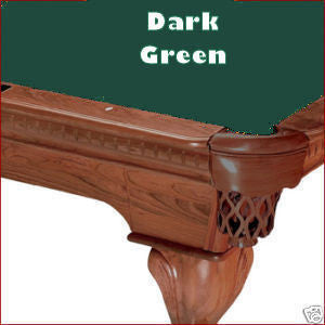 8' Proline Classic 303 Pool Table Felt - Dark Green