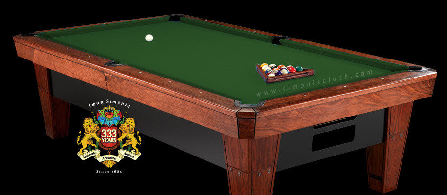 8' Simonis 860 Pool Table Cloth - English Green