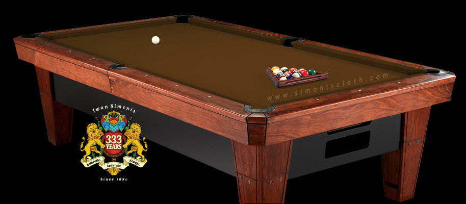 7' Simonis 860 Pool Table Cloth - Espresso