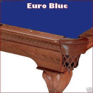 8' Proline Classic 303T Teflon Pool Table Felt - Euro Blue