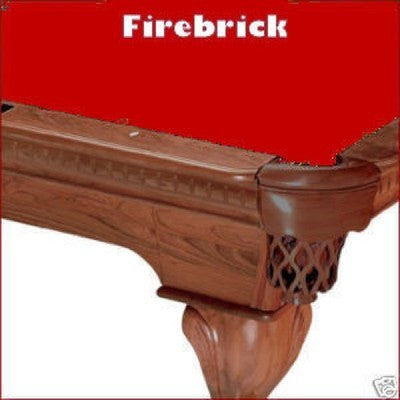 Pro 8' Oversized Proline Classic 303T Teflon Pool Table Felt - Firebrick