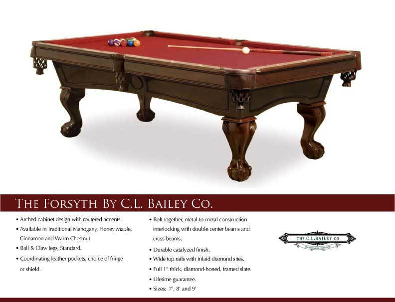 C.L. Bailey Forsyth Pool Table