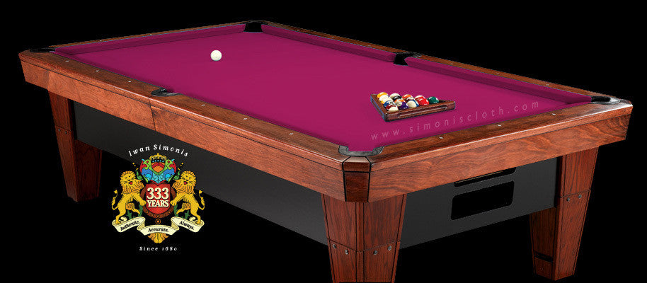 8' Simonis 860 Pool Table Cloth - Fushia
