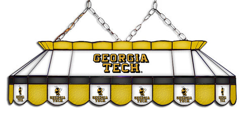 Georgia Tech Yellow Jackets Stained Glass Pool Table Light
