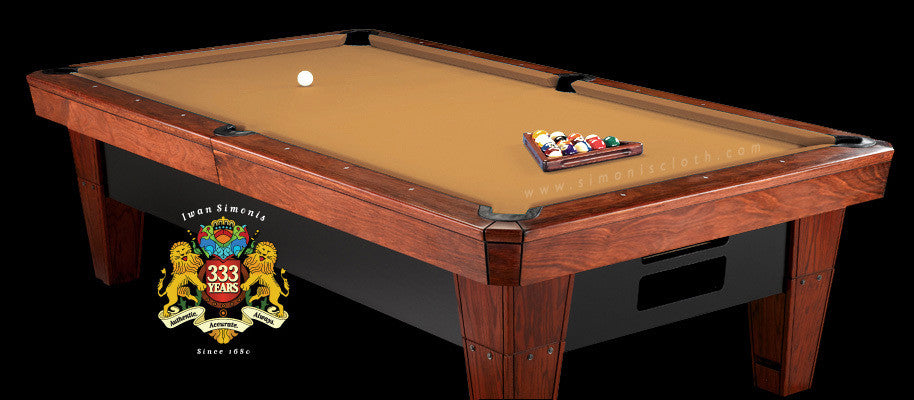 8' Simonis 860 Pool Table Cloth - Gold