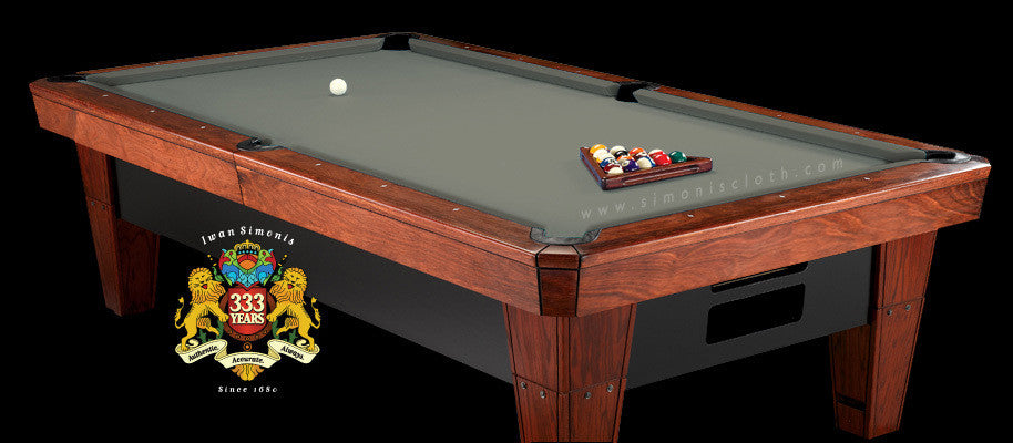9' Simonis 860 Pool Table Cloth - Grey