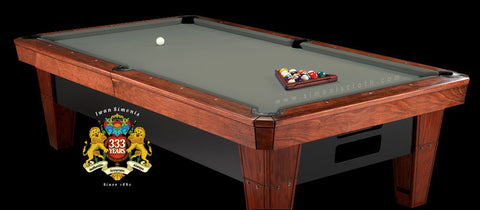 8' Simonis 860 Pool Table Cloth - Grey