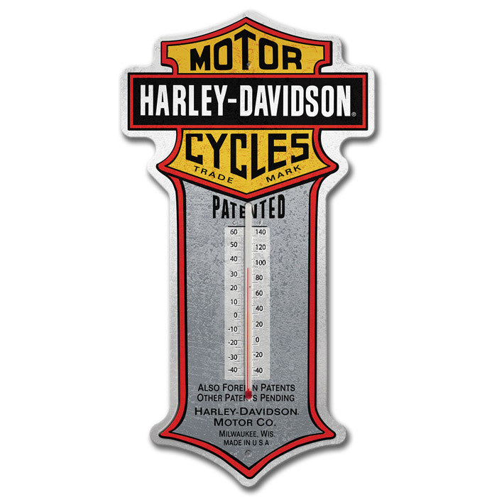 Harley-Davidson¨ Patent Bar & Shield Thermometer