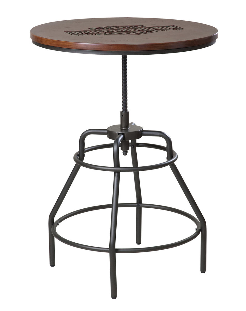 Harley-Davidson¨ Nostalgic Bar & Shield Wood Pub Table