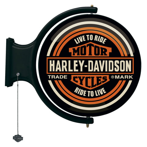 Harley-Davidson¨ Motorcycles Rotating Pub Light