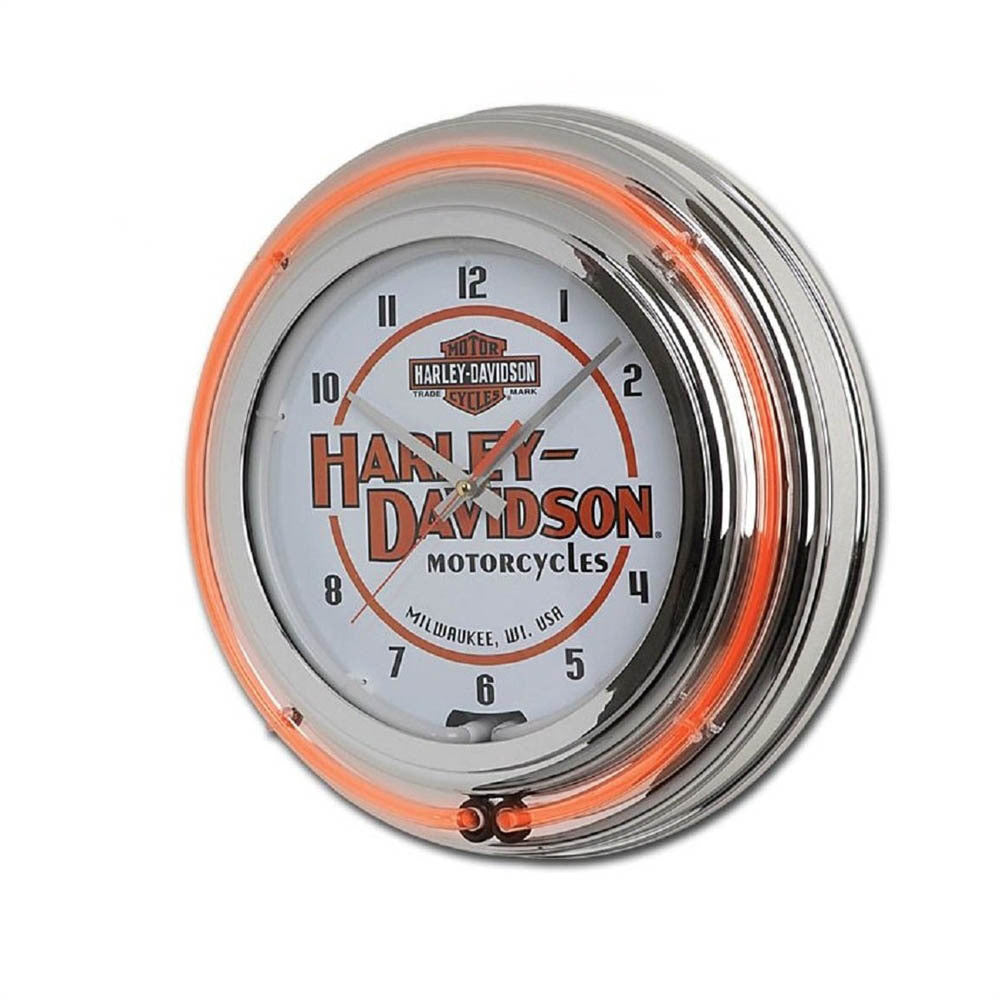 Harley-Davidson¨ Motorcycles Double Neon Clock