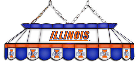 Illinois Fighting Illini Stained Glass Pool Table Light