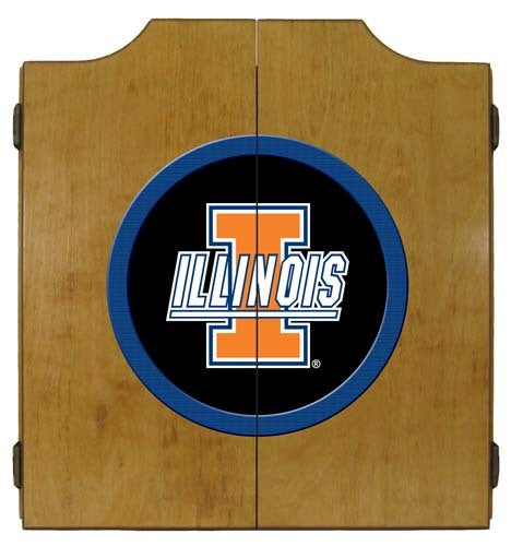 Illinois Fighting Illini Dartboard Cabinet