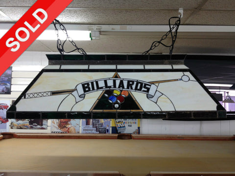 "Used 42"" Billiards Stained Glass Pool Table Light"