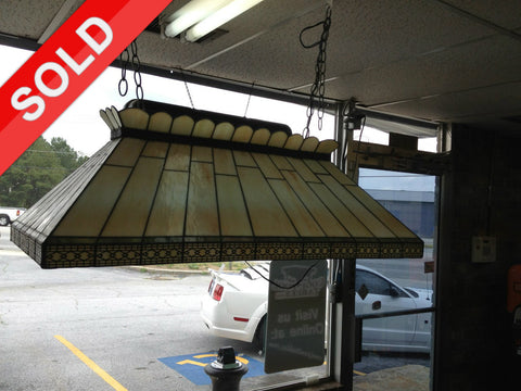 "Used 36.5"" Tiffany Stained Glass Pool Table Light"