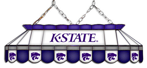 Kansas State Wildcats Stained Glass Pool Table Light
