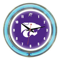 "Kansas State Wildcats 14"" Neon Clock"