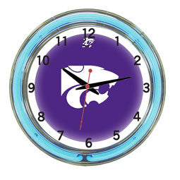 "Kansas State Wildcats 18"" Neon Clock"