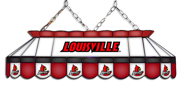 Louisville Cardinals Stained Glass Pool Table Light