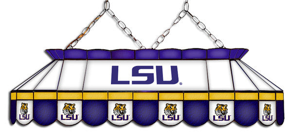 LSU Tigers Stained Glass Pool Table Light