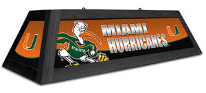 "Miami Hurricanes 42"" Pool Table Light"
