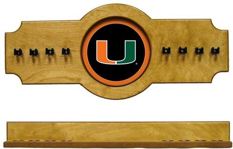 Miami Hurricanes 2-Piece Hanging Cue Rack