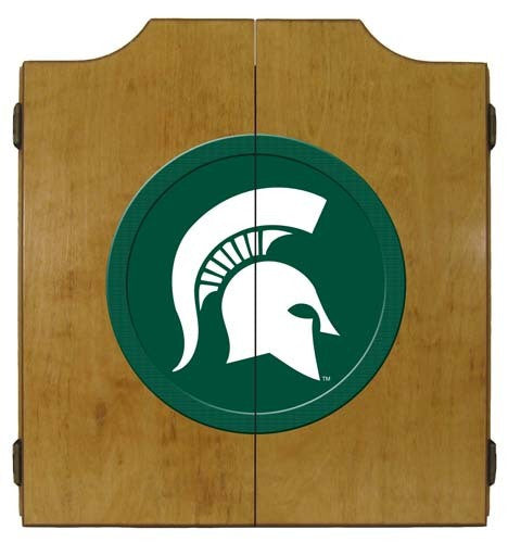 Michigan State Spartans Dartboard Cabinet