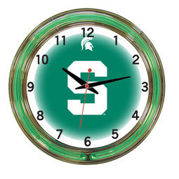 "Michigan State Spartans 18"" Neon Clock"