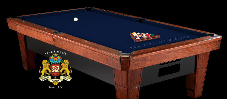 Pro 8' Simonis 860 Pool Table Cloth - Marine Blue