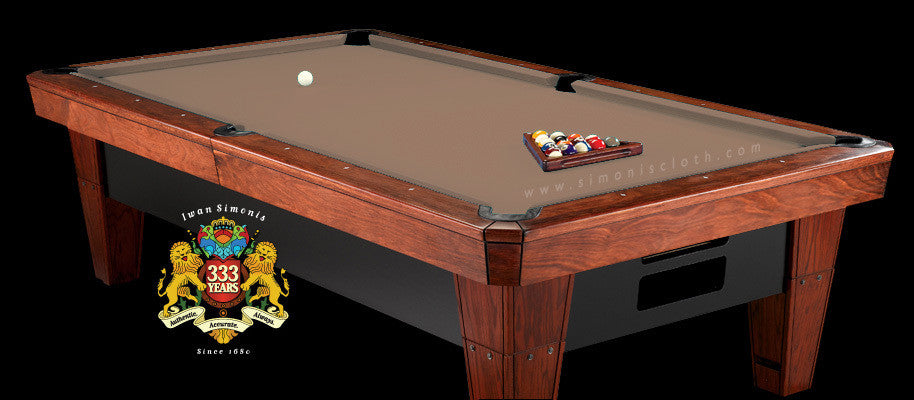 8' Simonis 860 Pool Table Cloth - Mocha