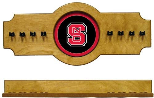 North Carolina State Wolfpack 2-Piece Hanging Cue Rack