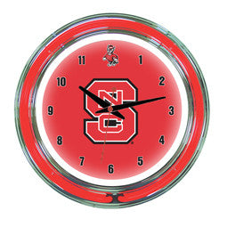 "North Carolina State Wolfpack 14"" Neon Clock"