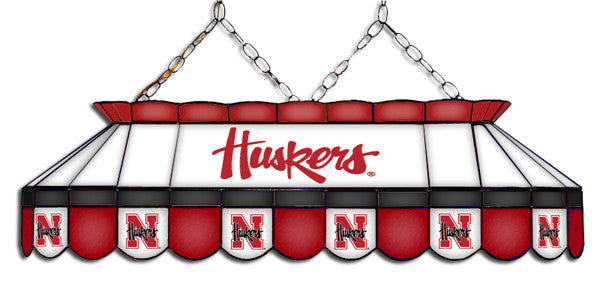 Nebraska Cornhuskers Stained Glass Pool Table Light