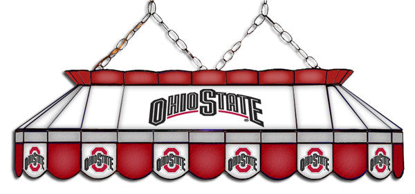 153 & Ohio State Buckeyes Stained Glass Pool Table Light - coolpooltables.com