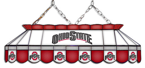 Ohio State Buckeyes Stained Glass Pool Table Light