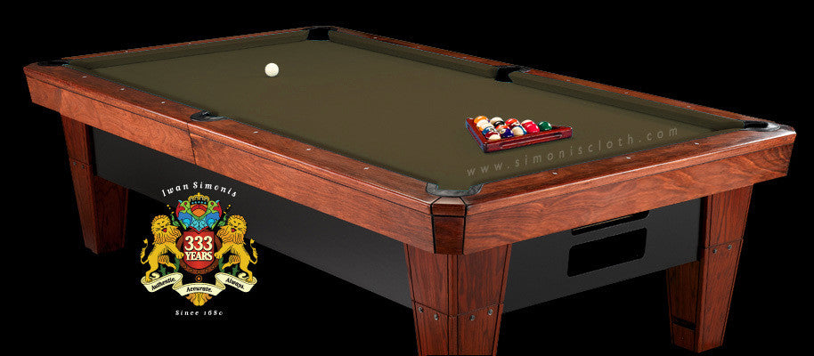 8' Simonis 860 Pool Table Cloth - Olive