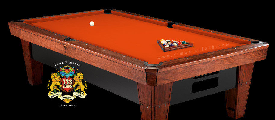 7' Simonis 860 Pool Table Cloth - Orange