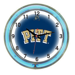 "Pittsburgh Panthers 18"" Neon Clock"