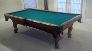 leisure bay 8' used pool table with billiard accessory kit