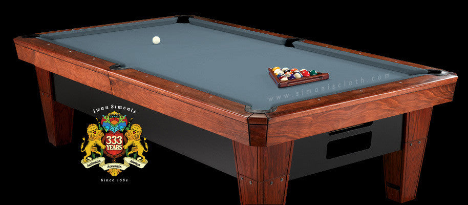 8' Simonis 860 Pool Table Cloth - Powder Blue
