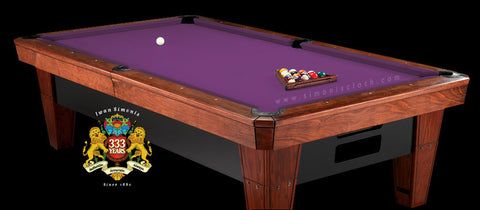 Pro 8' Simonis 860 Pool Table Cloth - Purple